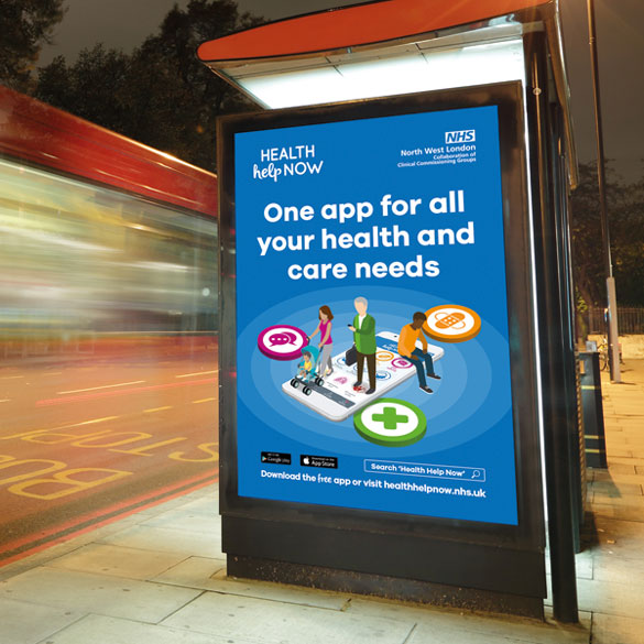 NHS Health Help Now | Outdoor advertisement | NEL