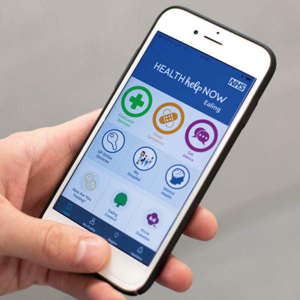 NHS Health Help Now app | Bespoke features to local priorities | NEL