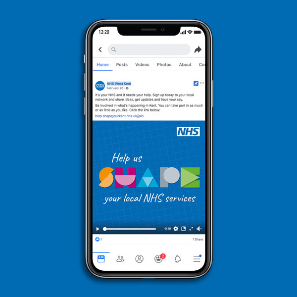 NHS Kent Engagement campaign | Facebook Newsfeed | Nel